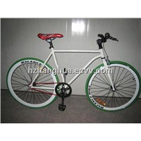 HH-FG1156 green tyre road racing bike with red chain