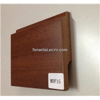 MDF Baseboard Covered with Wood Grain Foil