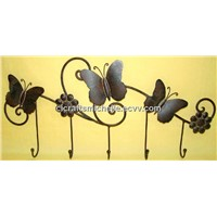 Metal iron beautiful butterfly wall hook