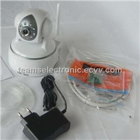 Network IP Camera with Dual Way Audio,Wireless Monitoring,Built-In Web Server