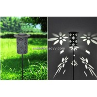 Solar Lawn Light,Metal Design,1pcs White Led Lamp,NICD or NIMH Battery,8 Hours Lighting Time