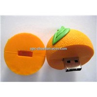 Wholesale Comparable Fruit Orange Shaped 8GB 16GB USB Flash Memory Driver