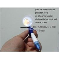 100% Brand New Arrival Medium & Advaned Plastic Logo Image Projection Pen with Six Projections