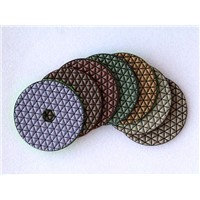 100mm Flexible Dry Diamond Polishing Pad For Terrazzo And Engineered Stone