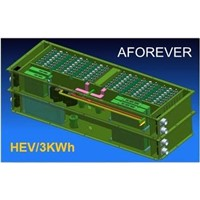 10Ah lithium car battery pack for 3KWh HEV