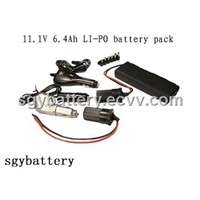 11.1V 6.4Ah Li-Polymer solar Battery Pack