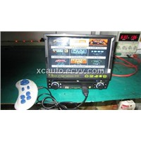 1 Din Car Central Multimedia, Car DVD Player With 7.5 Inch LCD Screen And Excellent Gaming Function