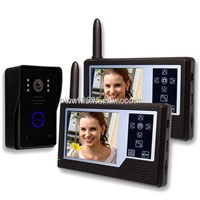 24hours monitoring 3.5 inch touch key wireless video door phone intercom system(1v2) for villa