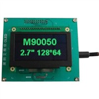 2.7-Inch OLED Display Module with 128x64 Dot Matrix and Green color