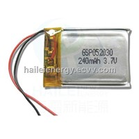 3.7V Rechargeable lithium-Ion Polymer battery  (GSP052030)