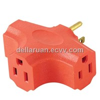3 outlet adapter socket UL certificate plug/power cord