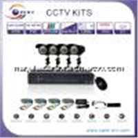 4CH Sony CCD 700tvl IR Camera DVR Kits (5004S-1W)