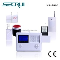 4 Wired zones+99wireless zones home security alarm system(Kr-5800)