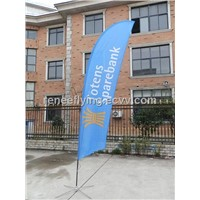 Advertising banner wind flag