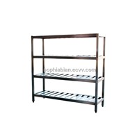 Assembled Stainless steel 4 tier display shelf