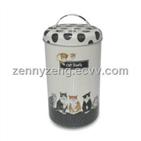 Big Round Handle Tin Boxes for Animal foods, Gift tins from Marshallom