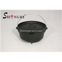 Cast-iron camping Dutch oven