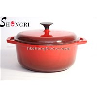 Cast iron enamel cookware dutch oven