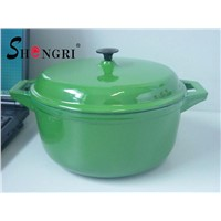 Cast iron enamel dutch oven