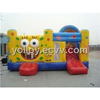 Cool Sponge Bob Inflatable Bouncy Castle House