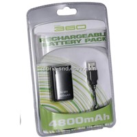 DC Battery for XBOX360 with Cable