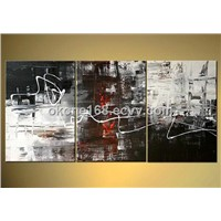Decorative abstract oil painting on canvas