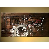 Decorative handpainted abstract oil painting on canvas