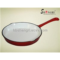 Enameled Cast Iron  Round Fry Pan