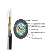 Fiber Optical Cable: Steel Tape Layer Loose Tube Outdoor Fiber Optic Cable(GYTS)
