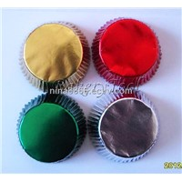 Gold/Silver Colorful Aluminium Foil Cupcake Liners, Muffin cases for cup cake baking FREE shipping