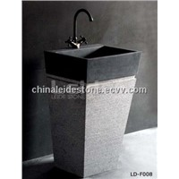 Grey granite pedestal sink LD-F007