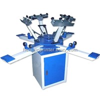 HS-1124 Manual hot sales rotary t-shirt printing machine