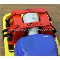 Head immobilizer for scoop stretcher