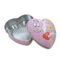 Heart Shaped Tin Boxes ,Hear tin cans , Candies/chocolates tin boxes