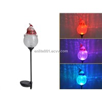Holiday Light for Christmas,Solar Garden Decoration,Multi-Color Led Lamp, Glass+Acrylic