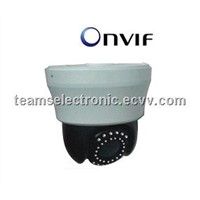 IP High Speed Dome Cameras,480 TV Lines Day/Night, IR Range 30m,10X Optical Zoom