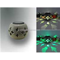 Led Solar Decoration Light,Ceramic Design,Multicolor Changeable,Solar Panel Powered,Nice Projection