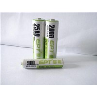 Low self discharge NI-MH AA2500/AA2000/AAA900 battery