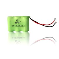 NI-MH 3.6V 2/3AA 600mah battery pack for cordless phone battery