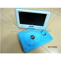 New portable DVD player with TV function,card reader,USB interface