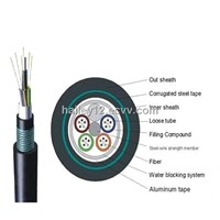 Outdoor GYTA53 Direct Burial Armored Underground Fiber Optical Cable with High Quality