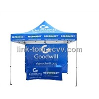 Outdoor folding tent with logo printed