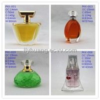 Perfume Glass Bottle with Surlyn/ Plastic Plating Cap and Aluminum Sprayer