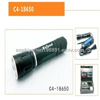 Rechargeable high power zoom focus aluminum cree led flashlight torch