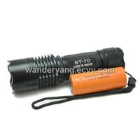 SG-ST70 Cree T6 Led Police Tactical flashlight (CE&ROHS)