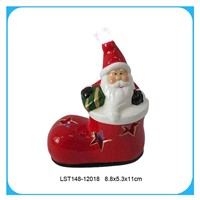 Shope shaped santa claus with led light