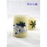 Silver Bell Pillar Craft Candle (RC-0057)