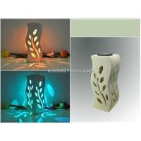 Solar Home Decoration Light,Multicolor LED Lamp,Leaf Shape With Ceramic Material,Solar Panel Powered