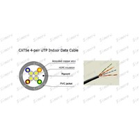 UTP cat5e indoor cable, lan cable ,network cable , ethernet cable, solid bare copper ,24 AWG