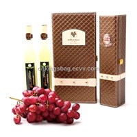 Unique Design PU Leather Single Wine Carrier Box for Ice Wine